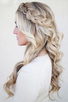 Braided bridal hairstyle - Long hair, rustic, simple. See more: http://www.weddingforward.com/timeless-bridal-hairstyles/ #weddinghairstyles #bridalhairstyles
