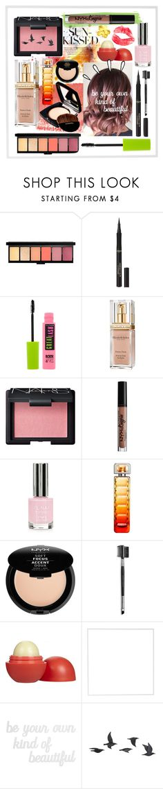 """Sunkist"" by couturerouge ❤ liked on Polyvore featuring beauty, L'Oréal Paris, Maybelline, Elizabeth Arden, Chanel, NARS Cosmetics, NYX, Topshop, HUGO and Mary Kay"