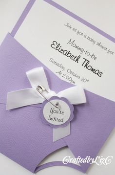 Handmade Baby Shower Diaper Invitation by CraftedbyLizC. To purchase please visit www.craftedbylizc.etsy.com