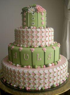 Bolo 15 anos Paulinha by A de Açúcar Bolos Artísticos, via Flickr