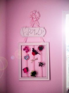 Framed Bow Holder This is really cute for little girls!