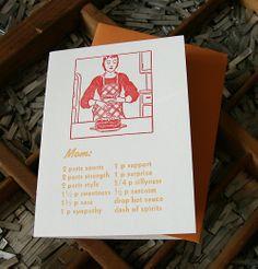 letterpress mom recipe card | Blackbird Letterpress http://www.etsy.com/shop/blackbirdletterpress?ref=top_trail #PoppytalkHandmade