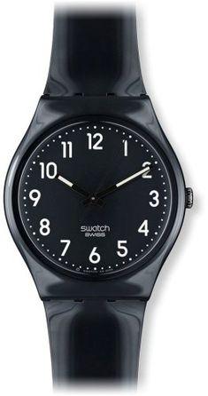 Amazon.com  swatch Women s GB247 Quartz Black Dial Luminous Plastic Watch   Swatch  Watches 53b428336f1