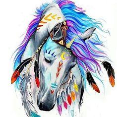 Beautiful and colorful Unicorn fantasy art.
