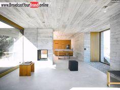 K\u00fcche Wohnzimmer Fenster Betonhaus Innenarchitektur Modern