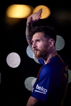BARCELONA, SPAIN - MAY Lionel Messi of Barcelona at the end of the La Liga match between Barcelona and Real Sociedad at Camp Nou on May 2018 in Barcelona, Spain. (Photo by Quality Sport Images/Getty Images) Team Messi, Football Messi, Messi Soccer, Messi 10, Sport Football, Cristiano Ronaldo, Messi And Ronaldo, Lionel Messi Barcelona, Barcelona Football