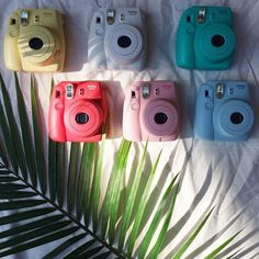Fujifilm Instax Mini 8 Instant Camera - Urban Outfitters white one or bluegreenw one on top row Poloroid Camera, Instax Mini 8 Camera, Polaroid Instax, Fujifilm Instax Mini 8, Polaroid Camera Colors, Polaroid Camera Fujifilm, Polaroid Printer, Tumblr Photography, Photography Camera
