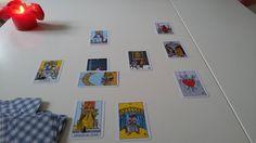 My new Rider Waite Tarot cards at work.