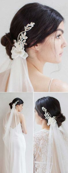 Top 20 Wedding Hairstyles with Veils and Accessories Destination wedding on the beach wedding draped veil silk hairstyle draped wedding veil Wedding Hairstyles For Medium Hair, Veil Hairstyles, Beach Hairstyles, Hairdos, Updos, Wedding Draping, Wedding Veils, Hair Wedding, Wedding Dresses