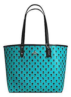 056751615ddc F55863 REVERSIBLE CITY TOTE IN BADLANDS FLORAL PRINT CANVAS Coach Shoulder  Bag, Canvas Shoulder Bag