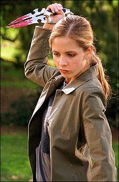 Sarah Michelle Gellar as Buffy Summers in Buffy the Vampire Slayer, 1996-2003.