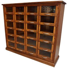 Oak Haberdashery Shop Cabinet, For Sale Haberdashery Shop, Apothecary Cabinet, Shop Cabinets, Go Shopping, China Cabinet, 1930s, Interior Decorating, Antiques, Rich Woman