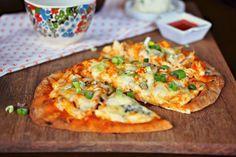 Buffalo Chicken Flat Bread Pizza