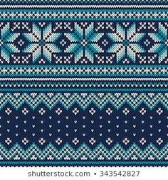 Similar Images, Stock Photos & Vectors of Seamless Fair Isle Knitted Pattern. Festive and Fashionable Sweater Design - 230600785 Motif Fair Isle, Fair Isle Chart, Fair Isle Knitting Patterns, Knit Patterns, Tejido Fair Isle, Fair Isles, Sweater Design, Winter Holidays, Free Paper