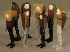 love these absract wood figure sculptures must find out the artists name