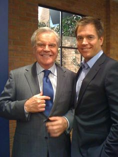 DiNozzo Sr. & DiNozzo Jr.  courtesy of @M_Weatherly