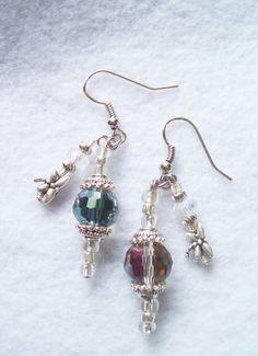 Vintage Swarovski Crystal Dangle Earrings by regiooaksartist, $20.00