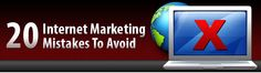 "20 Internet Marketing Mistakes To Avoid..."" Ebook(PDF)(MRR)      http://marketerman.tk"