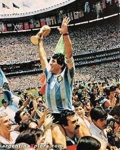 Diego Maradona Campeón Mundial 1986, Estadio Azteca, Mexico