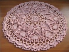 Romantic Pineapples Doily by Jo Ann Maxwell