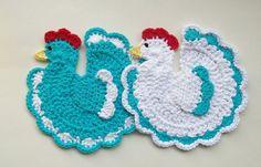 Pollo gallo presine uccelli presina sottopentola di littledarlynns