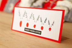 Weihnachtliche Karte selbermachen. Die DIY Vorlage einfach ausdrucken und verschenken. Super zum Basteln mit Kindern geeignet. An die Schere, fertig, los!