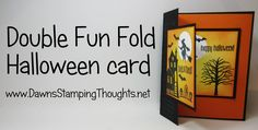 Double Fun Fold Halloween card using Spooky Fun stamp set from Stampin'Up!