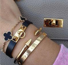 Cartier Bracelet, Hermes Bracelet, Bracelet Set, Hermes Ring, Hermes Jewelry, Bracelet Charms, Love Bracelets, Bangles, Beaded Bracelets
