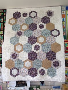 Hey Jude pattern made with Honey Meadow fabric line by Lewis & Irene http://www.abbeylanequilts.com/HEYJUDE.html http://www.lewisandirene.com/honey-meadow.html