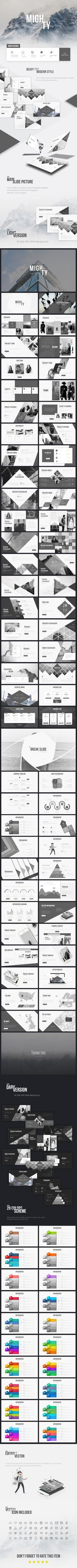 Mighty Multipurpose Presentation Template - #Business #PowerPoint #Templates Download here: https://graphicriver.net/item/mighty-multipurpose-presentation-template/19489648?ref=alena994