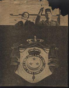 TM King Farouk I and Queen Farida, 1939