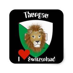 Schweiz Suisse Svizzera Svizra Switzerland Kleber Quadrat-Aufkleber