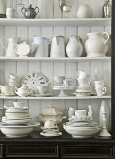 For the love of white ironstone, enamelware...love this!