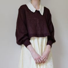 Cropped Burgundy Sweater