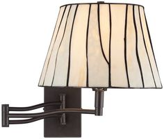 """Gervais 16"""" High Plug-In Tiffany Style Swing Arm Wall Lamp Universal Lighting and Decor, $170"""
