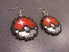 Hama Pokeball Earrings on Etsy, $8.60 CAD