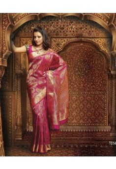 Pothys proudly presents the best destination for Silk Sarees online shopping. Buy Pure silk sarees, wedding silk sarees online and make your D - days festive. Absolute fashions including dresses for women, Men and Kids. Trisha Saree, Banarsi Saree, South Indian Sarees, Saree Shopping, Pure Silk Sarees, Party Wear Sarees, Beautiful Saree, Sarees Online, Blouse Designs