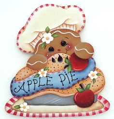 HP GINGERBREAD FRIDGE MAGNET  apple pie