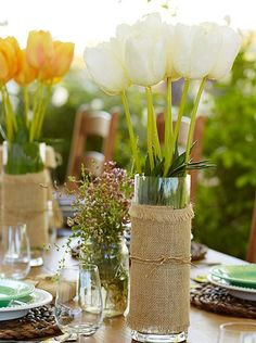 Perk up the Easter table with colorful tulips!