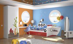 Habitación infantil temática dibujos animados Bob3
