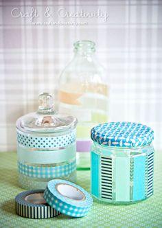 Blue-est of blue washi tape jars