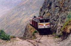 Done it! Sitting on top of this train in Equador