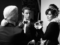 lily allen shooting her chanel campaign with karl lagerfeld Lily Allen, Chanel Wedding, Coco Chanel Fashion, Designer Handbags Online, Chanel News, Editorial Hair, Bags Online Shopping, Chanel Purse, Cheap Handbags
