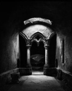 Charles Marie Bouton - Gothic Chapel. S)