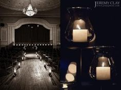 candles to line the aisle to the stage