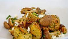 Annabella's Kitchen: Roasted potato salad with beech mushrooms