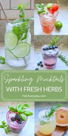 Easy Mocktail Recipes, Drink Recipes Nonalcoholic, Mint Recipes, Drinks Alcohol Recipes, Yummy Drinks, Healthy Drinks, Easy Mocktails, Herb Recipes, Fun Drinks