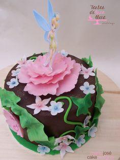 Tarta Campanilla - Tinkerbell Cake www.tartasdelunallena.blogspot.com