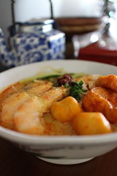 Jane's Corner: 马六甲辣沙 Laksa Melaka Bean Flour, Rice Flour, Laksa, Mung Bean, Glutinous Rice, Coconut Milk, Recipes, Food, Eten