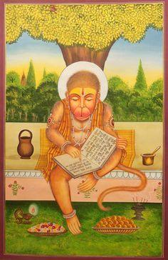 Hanuman Recites The Ramayana